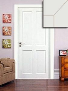 Festett ajtó, borovi fenyőből, plattolt betétes, normál tokkal, 98.426+áfa