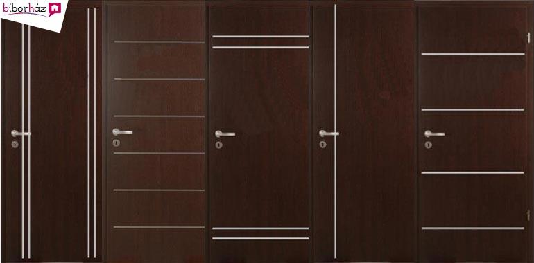 Fémcsíkos Design beltéri ajtók 5 színben, RAKTÁRRÓL