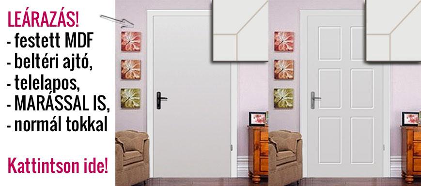 Festett MDF beltéri ajtó, telelapos, normál tokkal