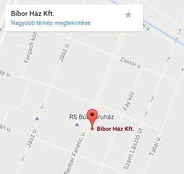 biborhaz kapcsolat Reitter Ferenc utcai google terkep