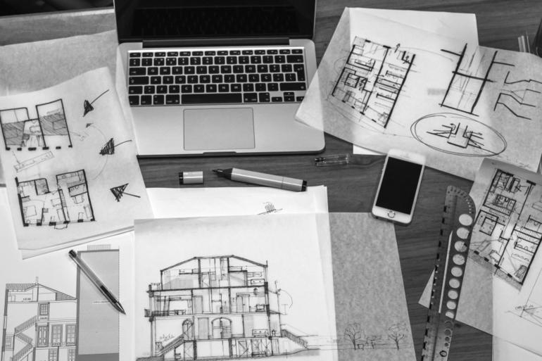 Építész vázlatok