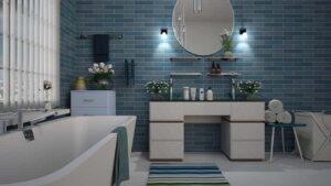 Kék fürdőszoba
