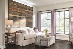 A kreatív ezermesterek fedezték fel, hogy a laminált padló a megfelelő enteriőrben a falon is pompásan mutat.