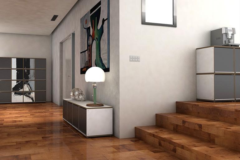 Melegburkolatok - A laminált ugyan drágább, mint a tapéta, de ezzel a megoldással dekorálhatjuk további helyiségek falait is: folyosó, lépcsőfeljáró, közlekedő is egyedi hatásban jelenhet meg.