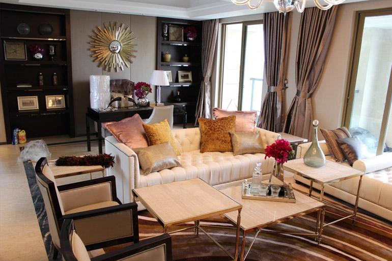 A bútorszigetek kialakítása nemcsak a funkciók, hanem a látvány miatt is fontos.