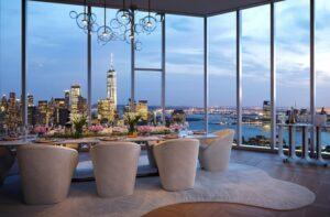A penthouse berendezése is igazodik a luxushoz.