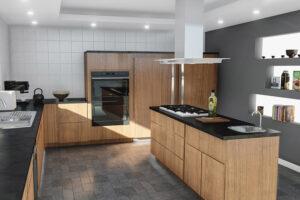 Nappaliban, konyhában, fürdőszobában és hálószobában egyaránt szépen mutat a szürke padló.