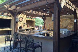 A kerti konyháknak van néhány népszerű stílusa.